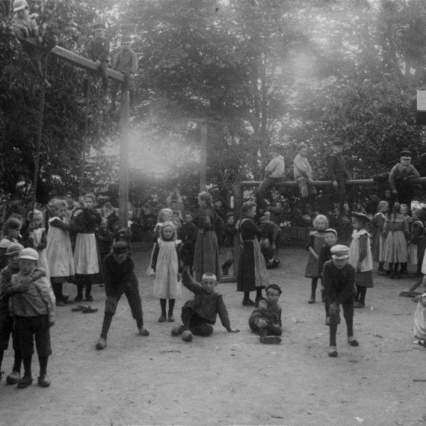 Children playing in a schoolyard