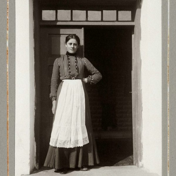 A woman in a doorway