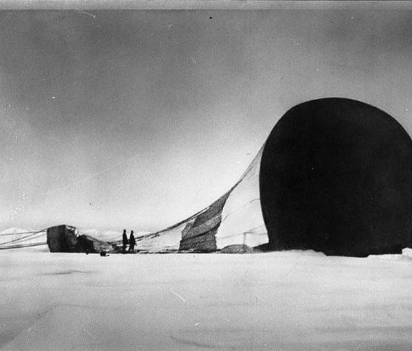 A crashed balloon.