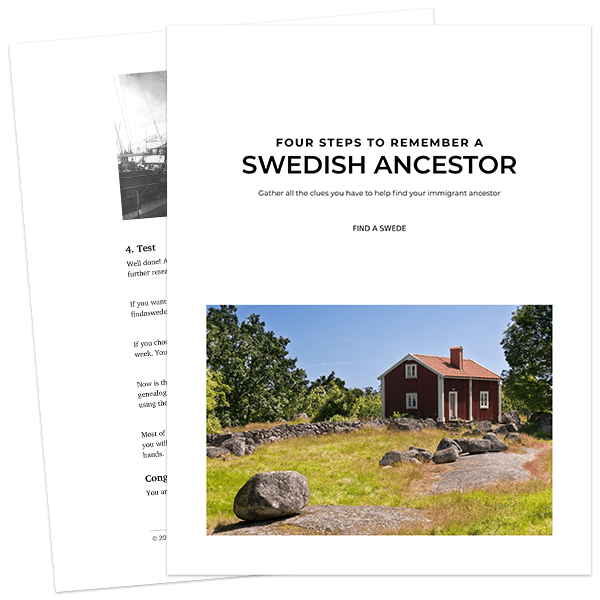 Four Steps to Remember a Swedish Ancestor PDF